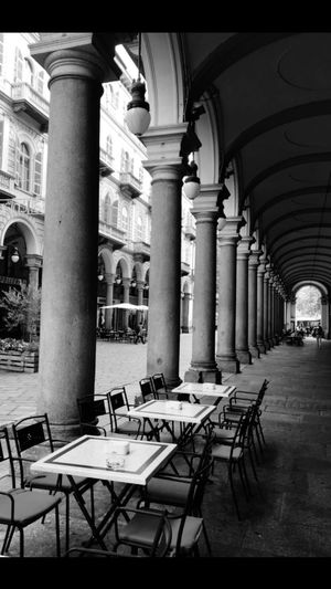 Early for lunch Overhead Line lunch Empty Places no people EyeEm Italy Turin Italy Blackandwhite Black & White Learn & Shoot: Leading Lines