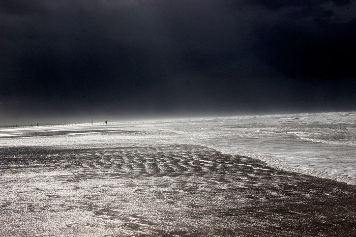 Lost In The Landscape Beach Beauty In Nature Glittering Horizon Over Water Nature North Sea Sea Tranquil Scene Water