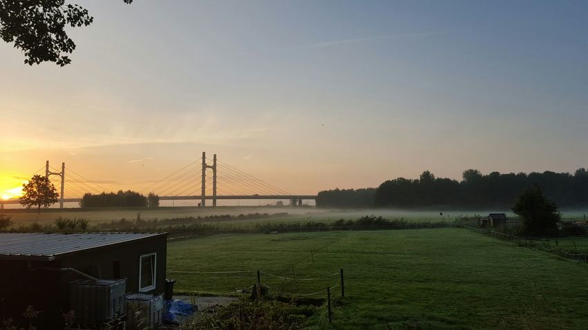 The mill bridge. Golden Gate bridge of kampen