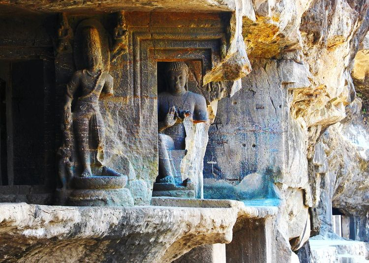 Elements falling in place Carvings In Stone Ajanta Caves Buddha Ancient Civilization Structures & Lines Elementsofart