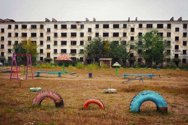 Abandoned Abandoned Buildings Dead Russia Murmanskregion Playground Abandoned Built Structure Architecture Building Exterior Day Tree Outdoors No People