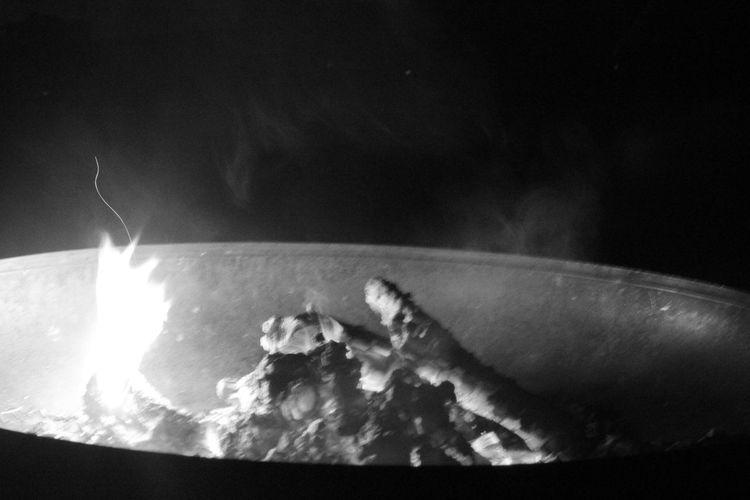 Fire Fire Bowl Smoke Embers Blaze Glow Burn Bonfire Blackandwhite Flames Flames And Smoke Flames And Sparks