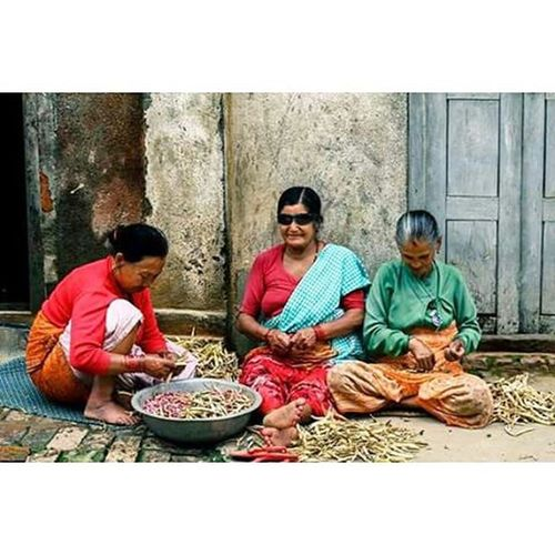 The cool moms from Bungamati. Despite losing everything in the recent earthquake that shook the whole nation, those are the priceless smiles I am offered everytime I go out for projects. Moms Bungamati Nepal Nepalearthquake2015 StandStrong Togetherwerise