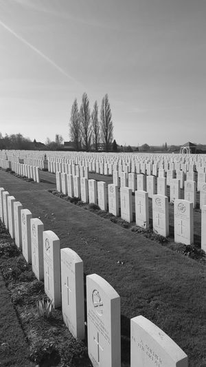 Cemetery Tombstone Memorial The Past Grave History War Outdoors No PeopleIn A Row War Memorial Belgium Military Day Sky King - Royal Person Grass