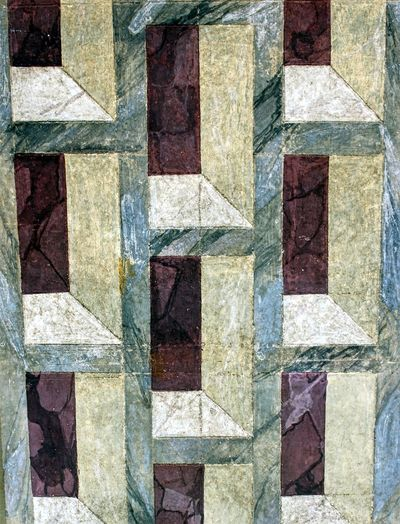 Geometric frescos in Monte Uliveto, year 1495, Italy Abstract Art Art And Craft Art, Drawing, Creativity ArtWork Backgrounds Brick Wall Church Close-up Design Detail Fresco Full Frame Geometric Geometric Abstraction Geometric Shape Geometric Shapes Geometry Italy Pattern Repetition Siena Tuscany