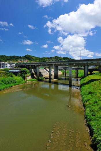 River beautiful landscape, fresh natural environment, the city leisure place Keelung River Natural Scenes Taiwan Architecture Beauty In Nature Bridge Bridge - Man Made Structure Bridge View Built Structure Cloud - Sky Connection Day Nature New Taipei City No People Outdoors River Scenics Sky Water Xizhi