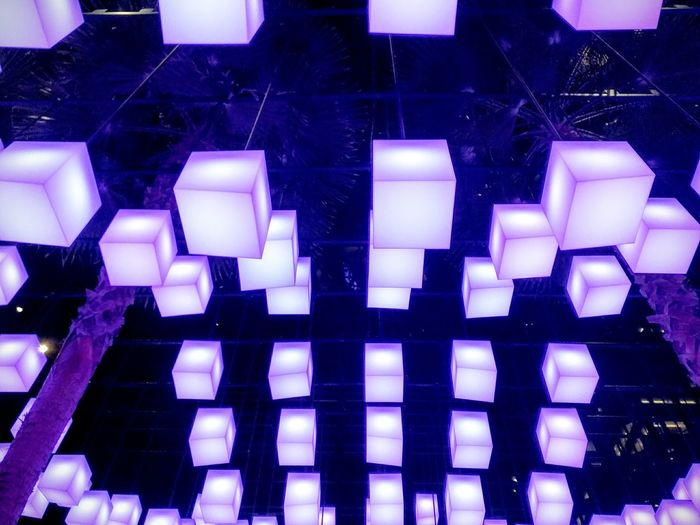 New York city Geometry Purple Installation Abstract Full Frame Backgrounds In A Row Architecture Close-up Geometric Shape Square Shape Light Painting