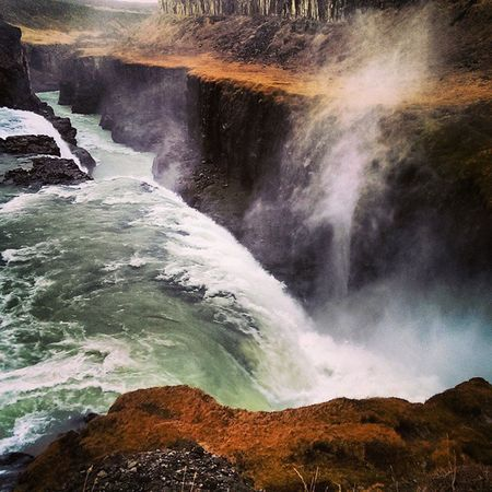 Iceland Goldencircletour Canyon Hvítá River Gullfoss Waterfall Spray Nature Power Water Spectacular Beautiful Scenery Travel Tourist Visiticeland