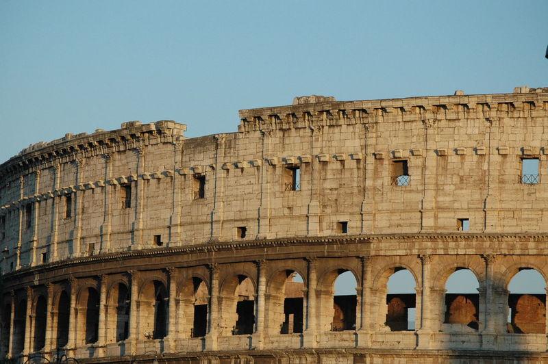 View of ancient coliseum