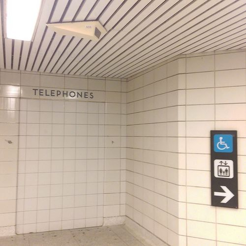 Sign of the times & days gone by in a Ttc station. Remember when having access to a Payphone was a necessity? Explorecanada Uncovertoronto underground killtheunderground