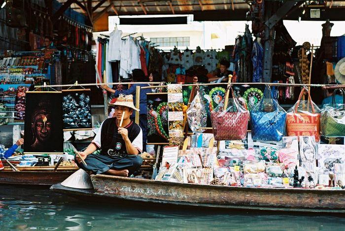 Thailand Traveling Floating Market Kodakektar100 , February, Nikon em.
