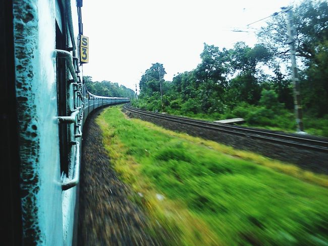 Trains Railway Railway Tracks Journey Greenery Traveling Blur EyeEm Nature Lover EyeEm Gallery My Best Photo 2015 EyeEm Best Shots Eye4photography  Eyeem Popular Photos From My Point Of View Nature Travelling The Tourist