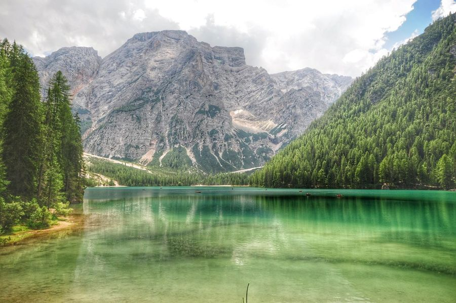 at Lago Di Braies Beatifuldestinations Mountains And Sky MountainLakes