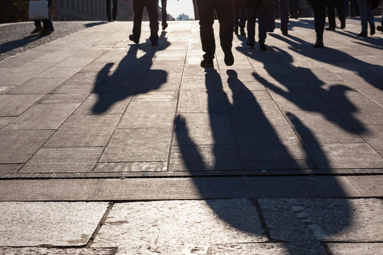 Anonymous City Day Low Section People Real People Shadows Sun Light Urban Walking