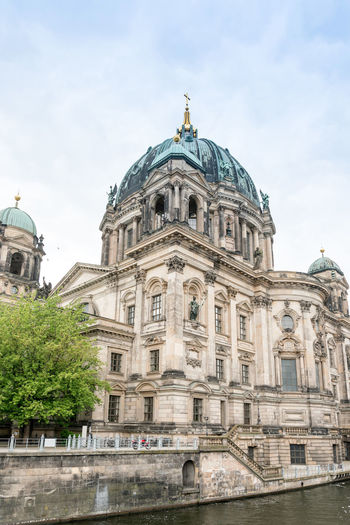 Low angle view of berlin cathedral against sky