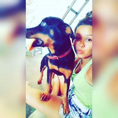 Preta perfeita dona do meu coração 🎶😃😍❤ Meuamor Mydog Leci Preta Boanoite