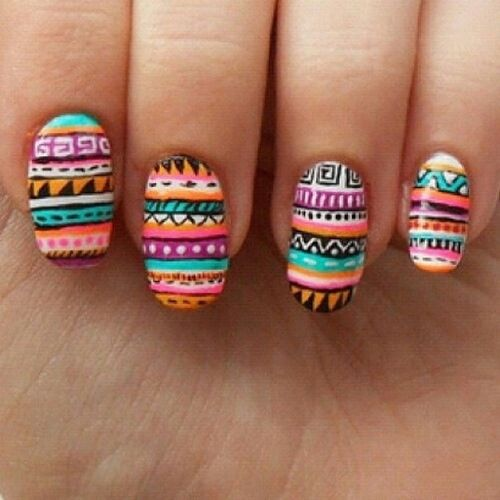 Fashionworkstv Nailart  TribalColor Tropical Tribal Rio Fifa brazil2014 brazil Tagsforlikes Fashionworks5 Smile Me Happy Man Woman