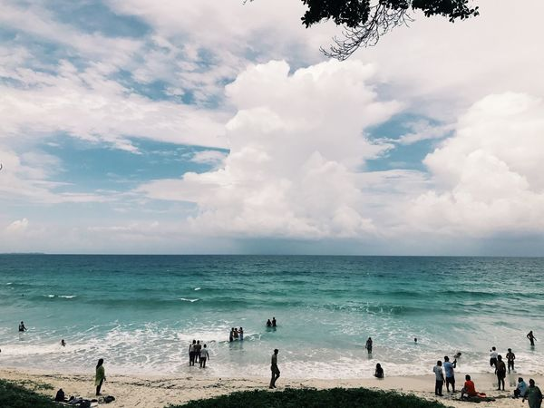 Breathing Space Sea Horizon Over Water Water Sky Beach Cloud - Sky Nature Beauty In Nature Scenics Real People Vacations Large Group Of People Leisure Activity Outdoors Enjoyment Day Lifestyles Weekend Activities Tranquility Wave