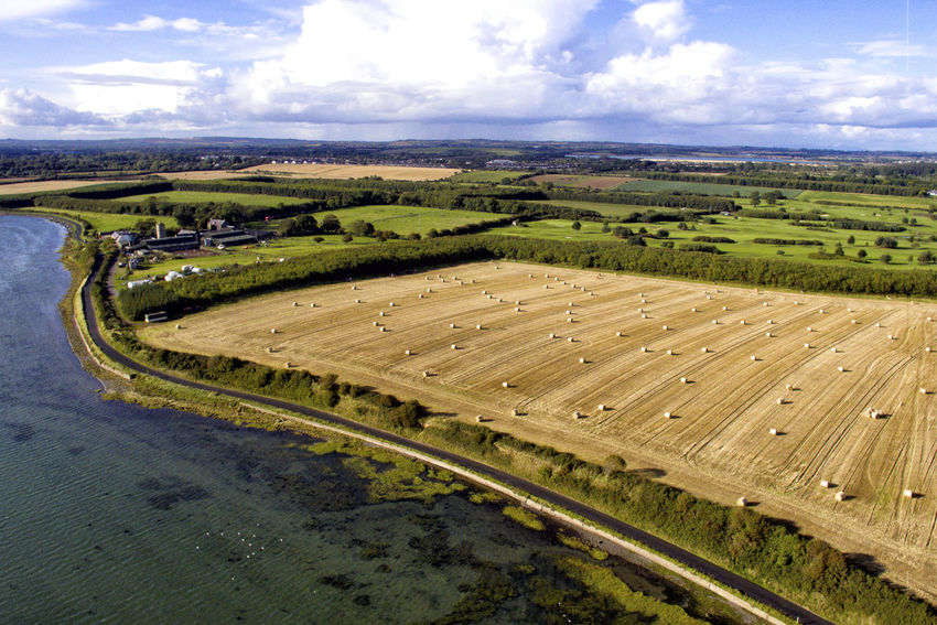 Drone shot of Malahide Estuary Drone  Ireland Malahide  Agriculture Beauty In Nature Cloud - Sky Day Dronephotography Droneshot Field Grass Hay High Angle View Landscape Nature No People Outdoors Patchwork Landscape Road Rural Scene Scenics Sky Tranquil Scene Tranquility Tree