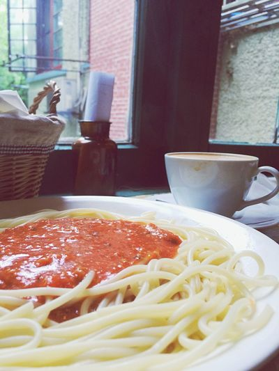 Spaghetti Bolognaise Pasta Pasta Time Cafe Coffee Time
