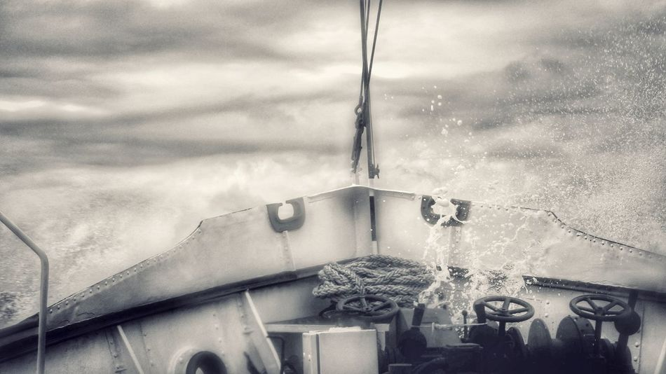 No People Outdoors Day Sky Close-up Water Shipyard Shipyardlife Stormy Seas Stormy Weather Photography Clouds And Sky Variation Ship Perspective