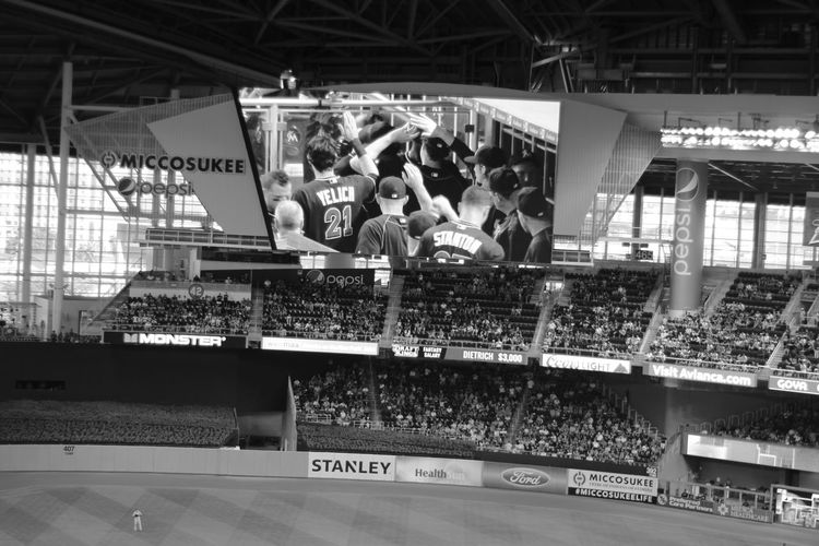 Taking Photos Check This Out Relaxing Enjoying Life Black And White Marlins Park Marlins  Miami Miami Marlins Baseball Sports