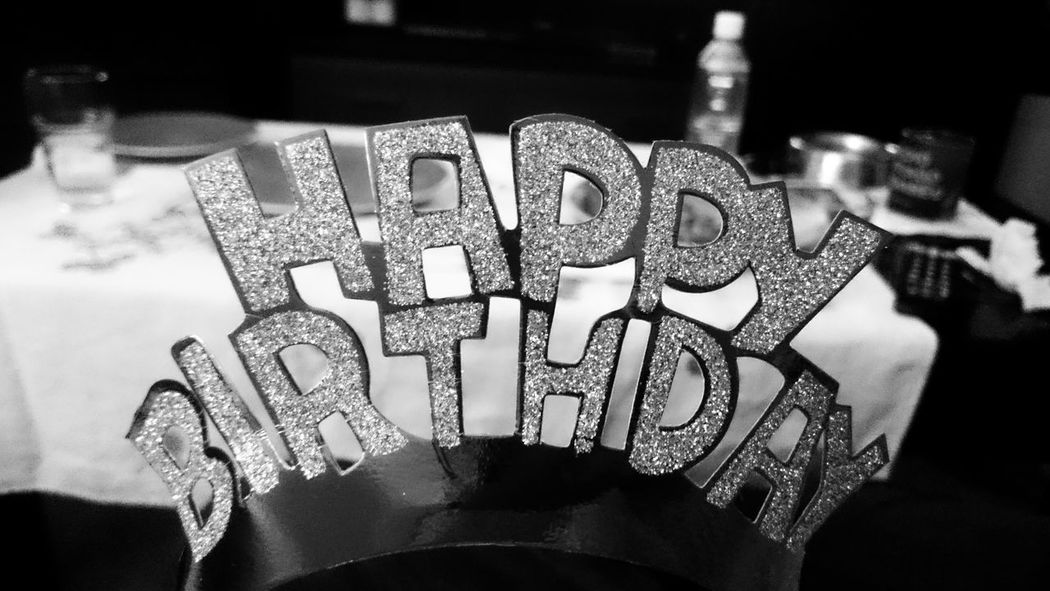 Glitter Wishes Accessories Art And Craft Black And White Blackandwhite Celebration Close-up Creativity Decoration Design Diadem Focus On Foreground Happy Birthday! Indoors  Jewelry Monochrome Party Pattern Representation Text