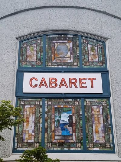 Text Window Architecture Built Structure Day Indoors  No People Close-up Politics And Government Cabaret Club Sign Stained Glass
