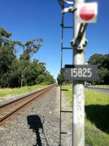 No People Sky Day Rail Transportation Railway Signal Outdoors Shadow Shades Landscape Clear Sky No Filter, No Edit, Just Photography EyeEmNewHere Betterlandscapes Railway Tree Nature Aperture Priority