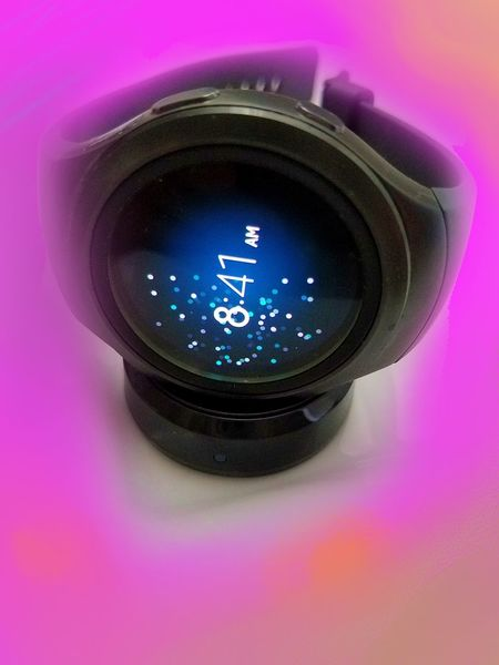 My Watch: I hate the looks of it, but it turns out to be useful for . . . I don't know what Close Up Technology Close-up Colored Background Gear No People Pink Background Purple Purple Background Single Object Studio Shot Watch MUR On EyeEm