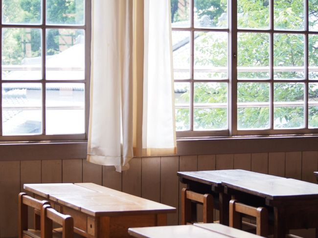 School Building Memories Sunlight Windows