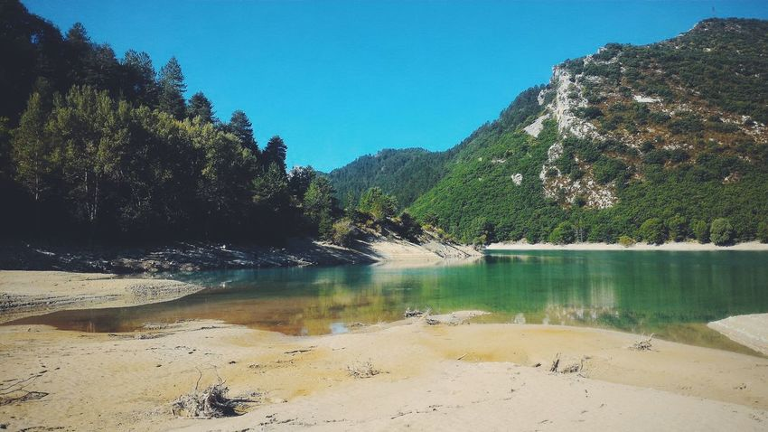 Nature Water Clear Sky Tranquil Scene Tranquility Forest Mountain Blue Calm Lake France