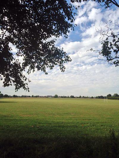 Gunnersbury Park Summer Clouds gunnersbury London Gunnersbury Park Grass Green Blue Summer Leisure Relax