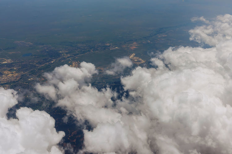 High angle view of clouds in sky