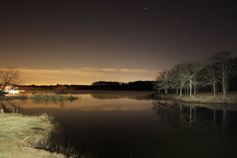 Black Creek Lake Texas Warp Time Photography Astronomy Water Star - Space Autumn Lake Galaxy Reflection Sky Landscape