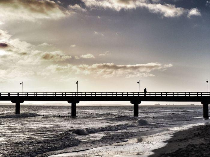 Bansin Seebrücke Sky Water No People Nature Cloud - Sky Outdoors Pier Beauty In Nature Beach Scenics - Nature Bridge Sea