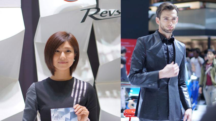 おまけ、Audiのスーパーイケメンと、YAMAHAのお姉様。 Tms2015 Tokyomotorshow Tokyomotorshow2015 東京モーターショー 東京モーターショー2015