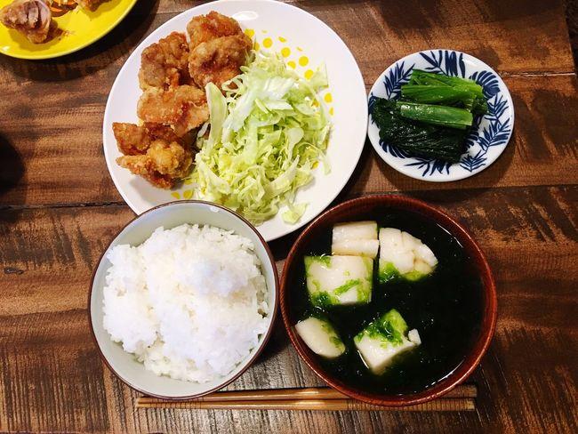 3月25日(金) 夕食 Dinner 唐揚げ