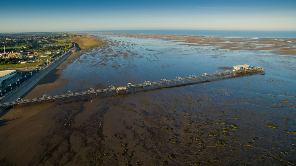 Southport pier and beach after the airshow Aerial View Aerial Views After The Airshow Blue City Coastline Day Drone Photography Horizon Horizon Over Water Illuminated Nature Outdoors Scenics Sea Seascape Sky Southport Pier Tide Out Tranquil Scene Tranquility Travel Destinations Water Waterfront