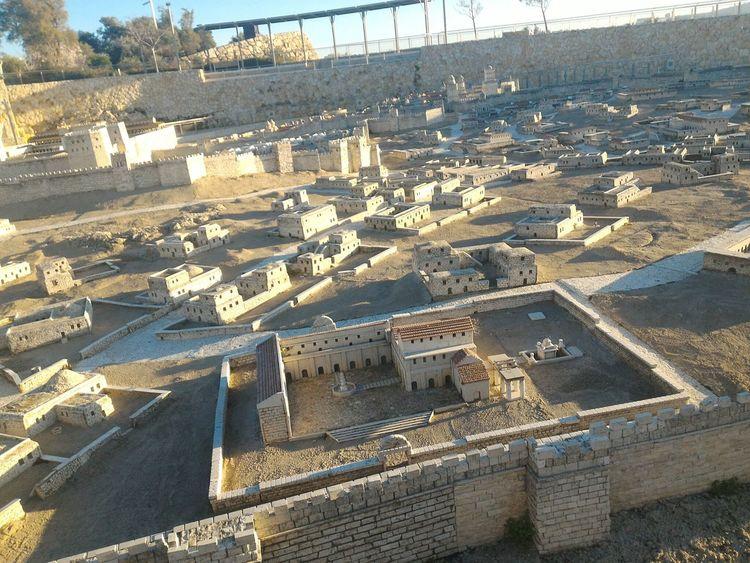 Jerusalem Old City Model Topography
