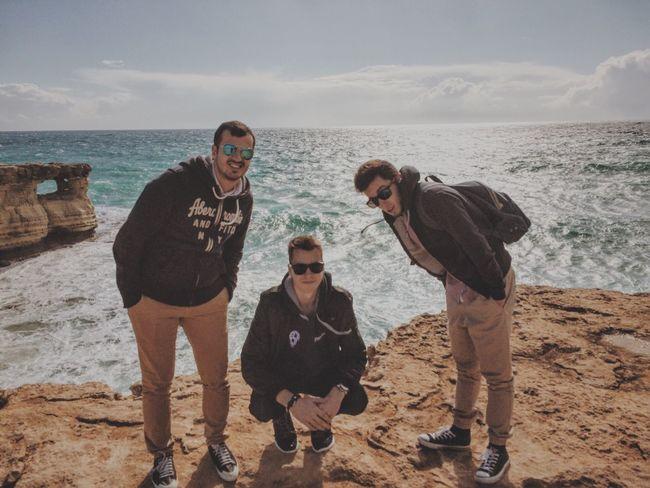 Flatmates posing Erasmus Sea Cool View