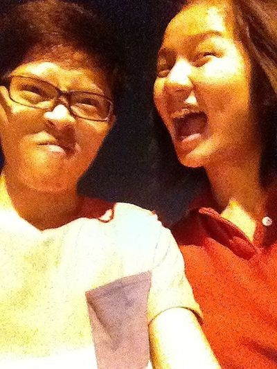 22.07.2013 With Dear doing the stupid face!!!