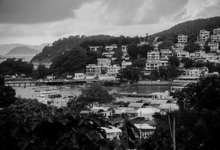 Life of Lamma Islanders, Hong Kong(B&W) Architecture Black & White Building Exterior Built Structure Day Growth Hong Kong Hong Kong Outlying Island Houses Island Island Life Lamma Island Landscape Mountains Nature No People Old House Outdoors Sky Tree Village Village Life Discoverhongkong Eyeem Philippines Monochrome Photography