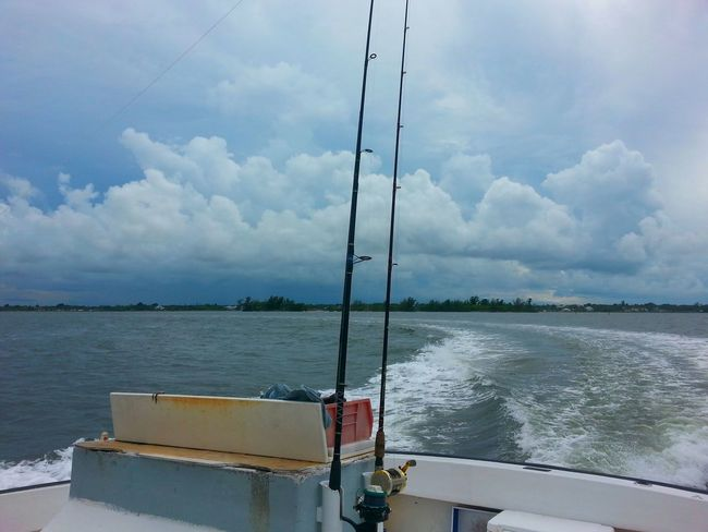 On The Ocean Storm Clouds Clouds And Sky Florida Life On Our Way Home Done Fishing Stern Wake Sebastian, Fl Need For Speed