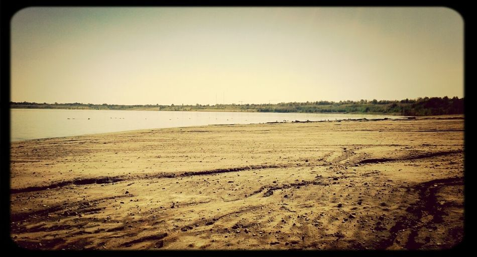 Märchen Strand. Beautiful Day Swimming