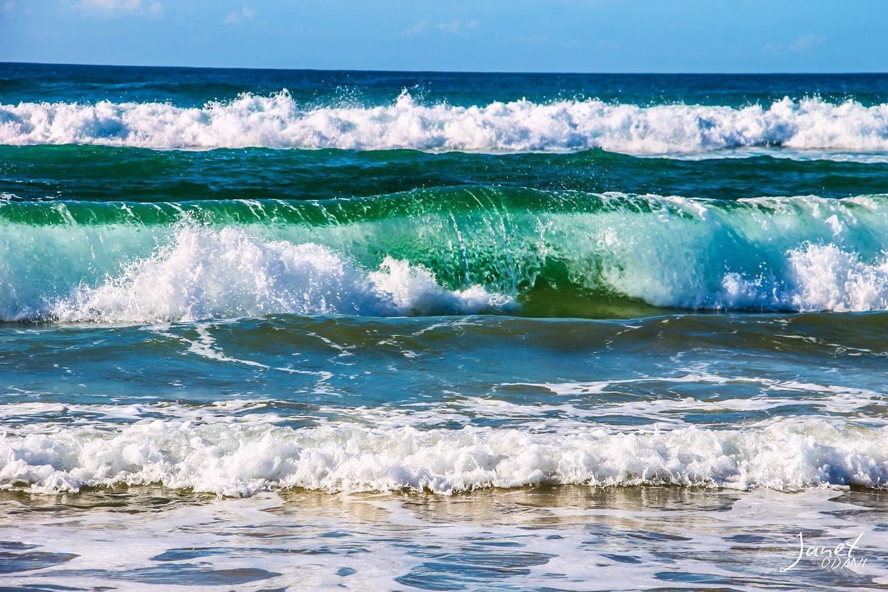 water, sea, wave, motion, aquatic sport, surfing, beauty in nature, sport, scenics - nature, waterfront, beach, day, nature, land, horizon over water, horizon, sky, outdoors, power in nature, flowing water