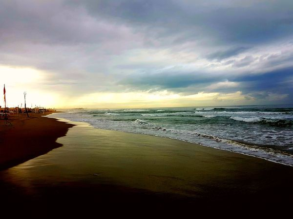 Sea Beach Landscape Scenics Sunset Cloud - Sky Water Beauty In Nature Multi Colored Dopo La Tempesta!  Dopo La Tempesta!  Horizon Over Water Sky Day Eyem Collection EyeEm Best Shots EyeEmNewHere After The Storm...