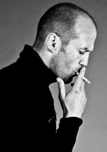 Jason Statham Black & White