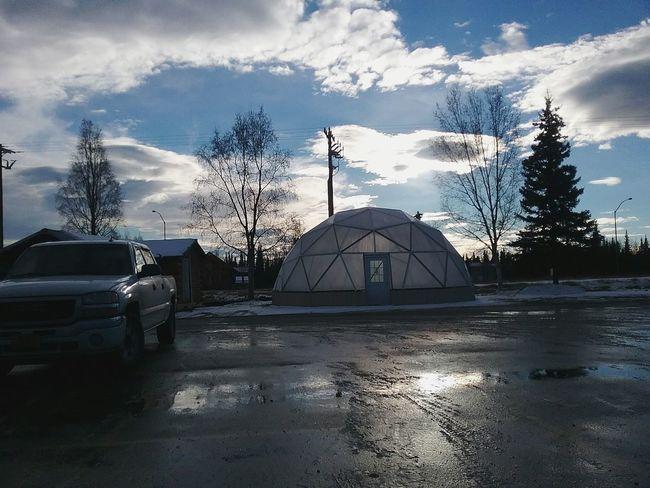 Alaskan Architecture Dome Creativity Sky No People Cloud - Sky Day Outdoors