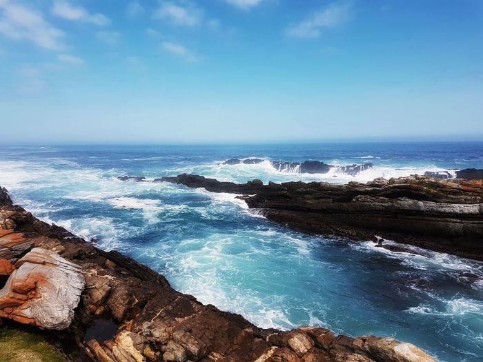 South African Coast near Tsitsikamma Sky EyeEmNewHere Outdoors Nopeple Ocean Waves Rocks Stream